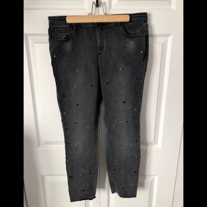 Reitmans Jeans with pearls